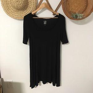 SO black swing dress